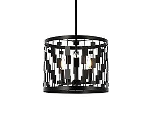Living District Levante 3 Lights Pendant In Black, Black, large