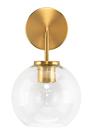 Reece Wall Sconce, Brass, large