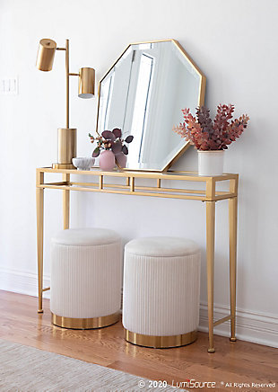 LumiSource Cannes Contemporary/Glam Table Lamp in Gold Metal, , rollover