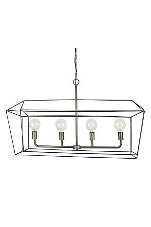 Kalalou Rectangle Iron Bar Pendant Light, , large