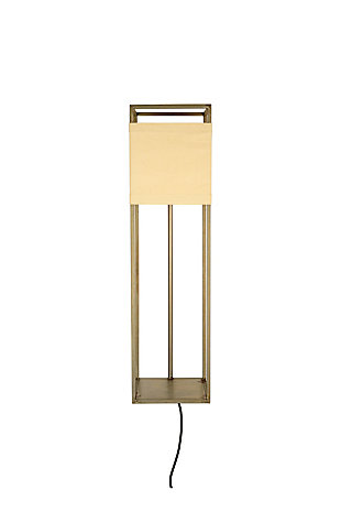 Kalalou Wall Lamp with Metal Frame and Canvas Shade, , large