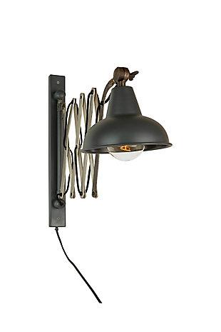 Kalalou Industrial Scissor Wall Lamp, , large
