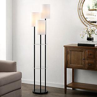Soren  Glass/Iron Floor Lamp, , rollover