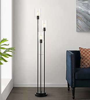 Remis  Glass/Iron Floor Lamp, , rollover
