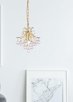 Toureg 3 Light Gold Pendant Clear Royal Cut Crystal, Gold, rollover