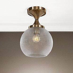 Uttermost Bolla 1 Light Pattern Glass Semi Flush Mount, , rollover
