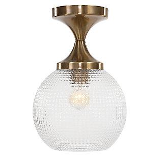 Uttermost Bolla 1 Light Pattern Glass Semi Flush Mount, , large