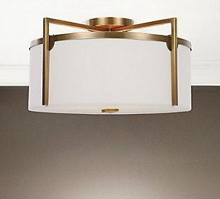 Uttermost Colfax Brass 3 Light Semi Flush, , rollover