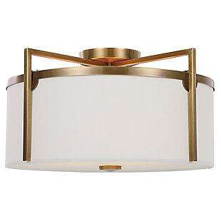 Uttermost Colfax Brass 3 Light Semi Flush, , large