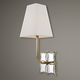 Uttermost Theodora Brass 1 Light Sconce, , rollover