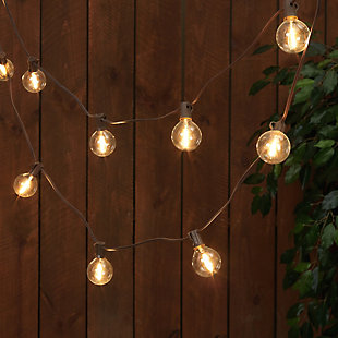 Everlasting Glow 15' Outdoor Solar Patio Light String, , rollover
