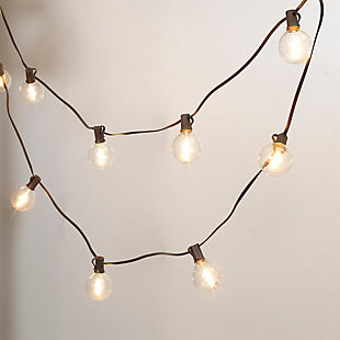 Everlasting Glow 15' Outdoor Solar Patio Light String, , large