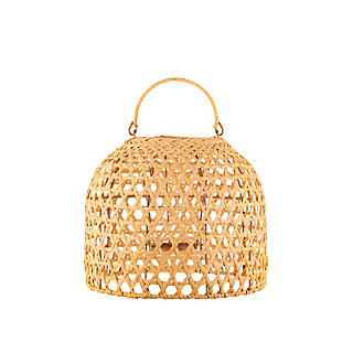 "Everlasting Glow 11"" Outdoor Hanging Solar Operated Flame Effect Bamboo Pendant Light, , large"