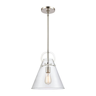 Gabby  1-Light Mini Pendant in Polished Nickel, Polished Nickel, rollover