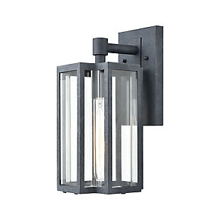 Bianca  1-Light Sconce in Aged Zinc with Clear, , large