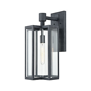 Bianca  1-Light Sconce in Aged Zinc with Clear, , rollover