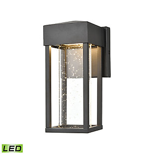 Bianca  Sconce in Matte Black with Seeded Crystal - Integrated LED, , large