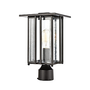 Bianca  1-Light Post Mount in Matte Black with Seedy Glass, , rollover
