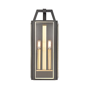 Bianca  2-Light Sconce in Charcoal with Clear Glass, , large