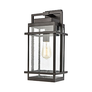 Bianca  1-Light Sconce in Matte Black with Seedy Glass, , large