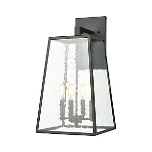 Bianca  4-Light Sconce in Matte Black with Seedy Glass, , rollover