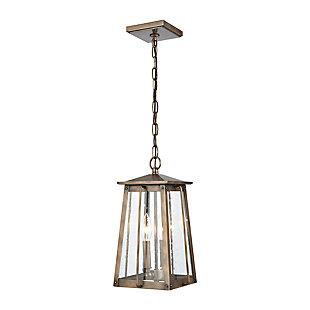 Bianca  2-Light Hanging Pendant in Vintage Brass, Vintage Brass, large