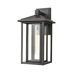 Bianca  1-Light Sconce in Matte Black with Clear Glass, , large