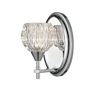 Elk Home 1-Light Vanity Light in Polished Chrome with Clear Crystal, , large