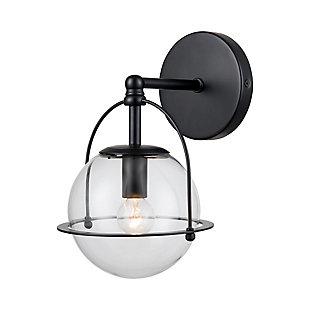 Elk Home 1-Light Vanity Light in Matte Black, Matte Black, large