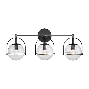 Elk Home 3-Light Vanity Light in Matte Black, Matte Black, large
