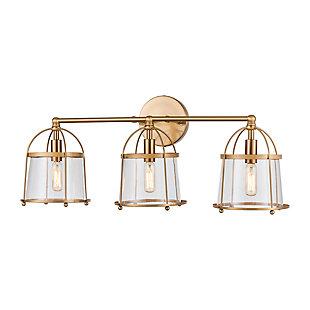 Elk Home 3-Light Vanity Light in Satin Brass, Satin Brass, large