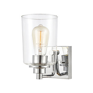 Elk Home 1-Light Vanity Light in Polished Chrome with Clear Glass, Polished Chrome, large