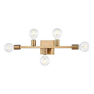 Elk Home 5-Light Vanity Light in Burnished Brass, Burnished Brass, large