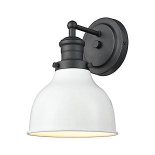 Elk Home 1-Light Vanity Light in Charcoal/Satin Nickel, Charcoal, large