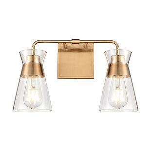 Elk Home 2-Light Vanity Light in Burnished Brass, Burnished Brass, large