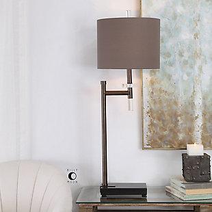 Uttermost Oletha Dark Bronze Buffet Lamp, , rollover