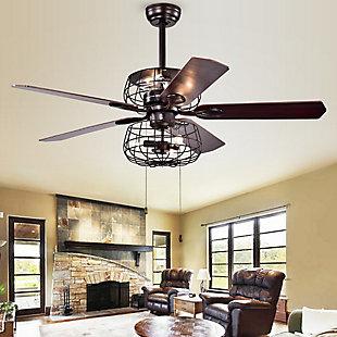 Safavieh Erving Ceiling Light Fan, , rollover