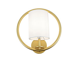 A Touch Of Design Aurora Gold Iron 1-Light Wall Sconce, , large