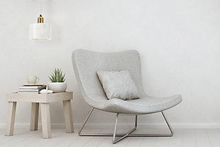 Creative Co-op Minimalist Modern Marble Pendant Lamp, White, rollover