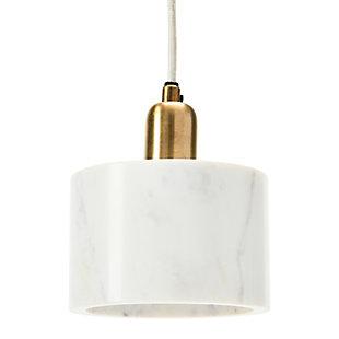 Creative Co-op Minimalist Modern Marble Pendant Lamp, White, large