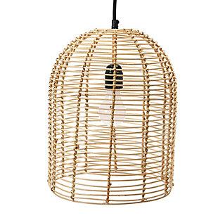 Creative Co-op Modern Boho Handwoven Rattan Pendant Light, , large