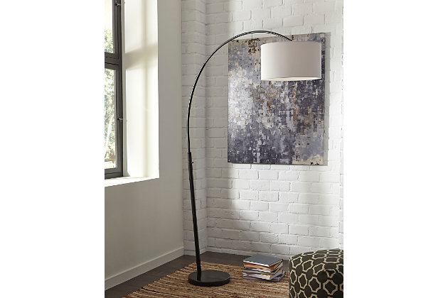 Black Shawny Arc Lamp by Ashley HomeStore