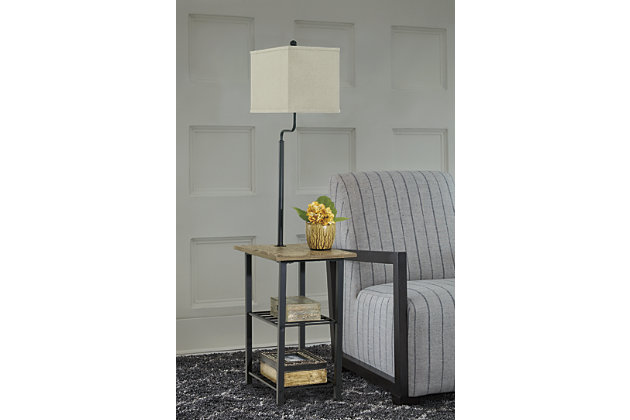 Black Shianne Floor Lamp by Ashley HomeStore