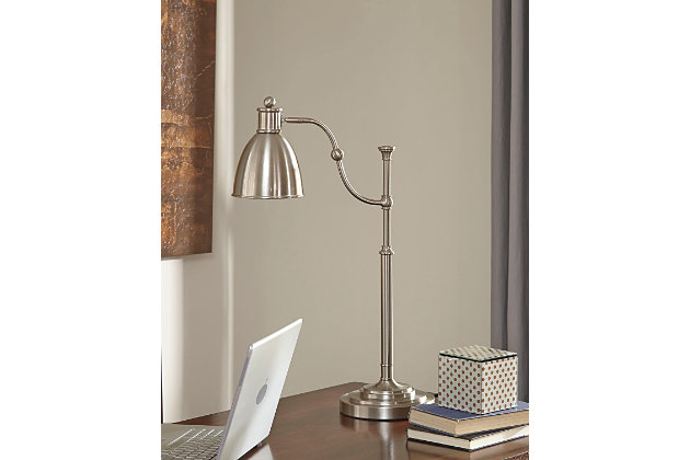 Silver Finish Shavaun Desk Lamp by Ashley HomeStore
