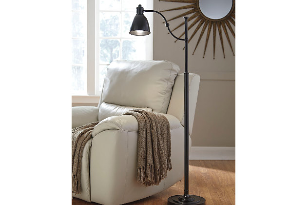 Black Shavaun Floor Lamp by Ashley HomeStore