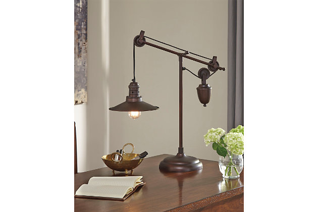 Kylen Desk Lamp by Ashley HomeStore, Bronze Finish