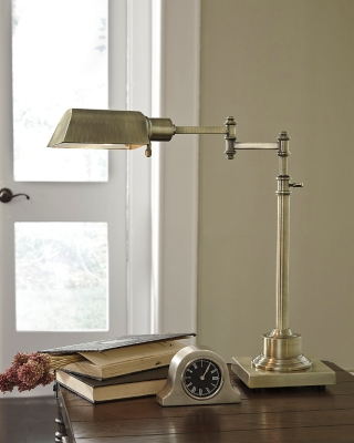 Ashley Arawn Desk Lamp, Antique Brass Finish