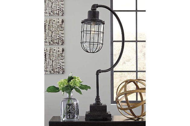 Black Jae Desk Lamp by Ashley HomeStore