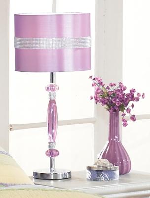 Ashley Nyssa Table Lamp, Purple