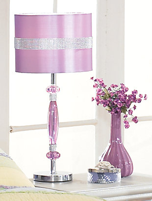 Nyssa Table Lamp, Purple, rollover